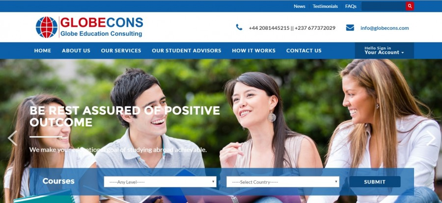 Educational Consultancy Site Successfully Launched